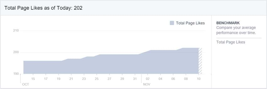 Facebook Insights - Total Page Likes