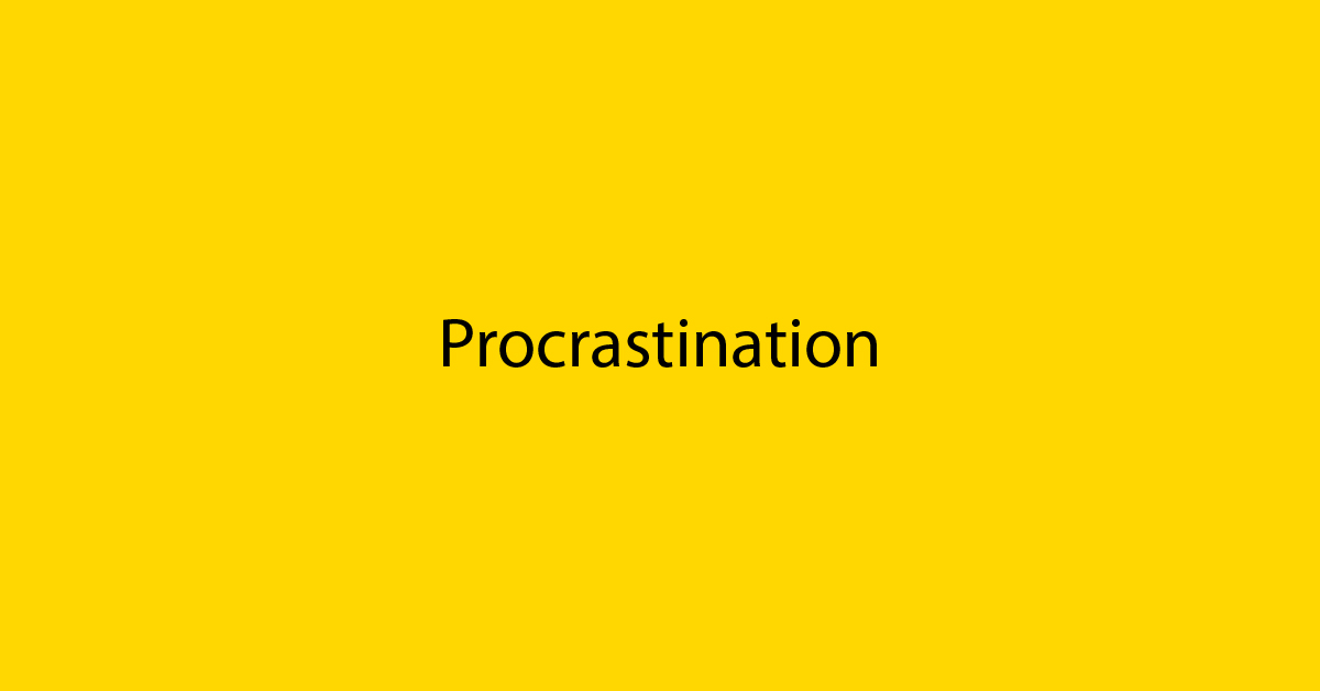 Marketing Procrastination